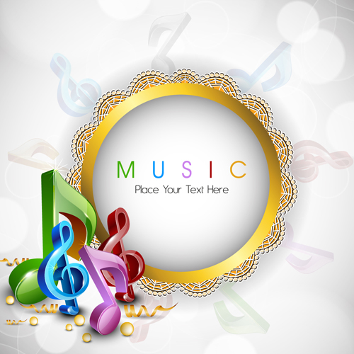 Round Lace Frame Music Background Vector For Free Download