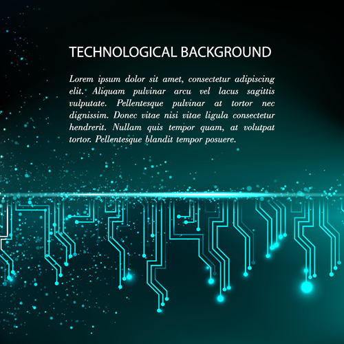 Creative circuit board concept background vector 07 free   Free download