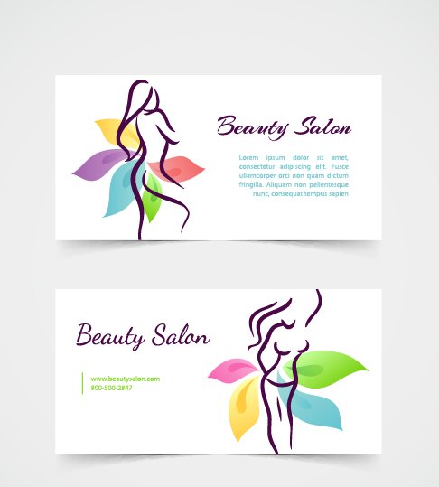 exquisite beauty salon business cards vector 01 free