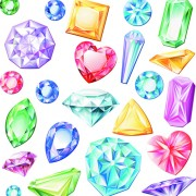 Shiny colored diamonds design vector 02 free