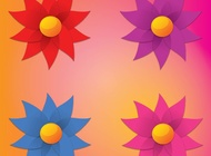 Simple Flowers vector free