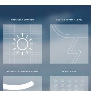 Creative outline weather icons vector free