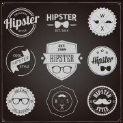 Hipster style badges and labels vector graphics 01 free