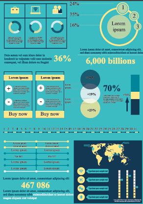 Business Infographic creative design 1535 free
