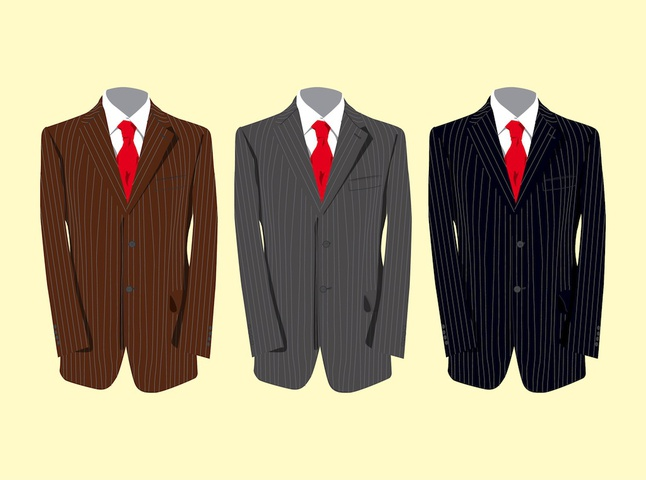 Classy Suits vector free