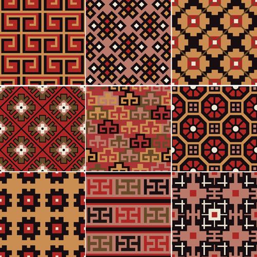 Fabric seamless patterns design set 02 free
