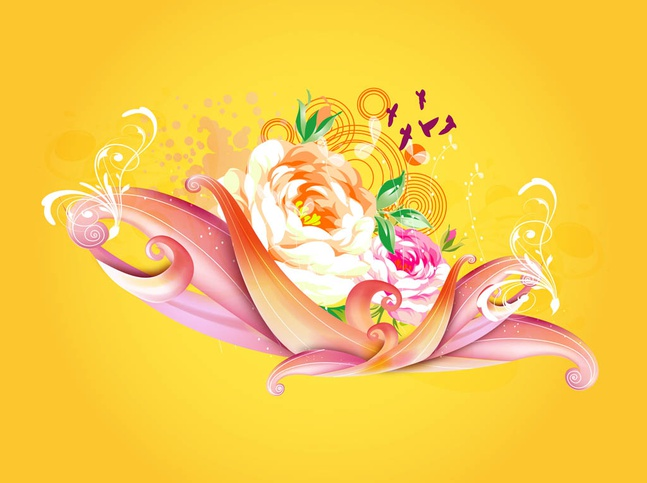 Roses Design vector free