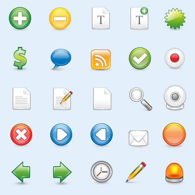 Web Icons vector free