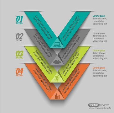 Business Infographic creative design 989 free