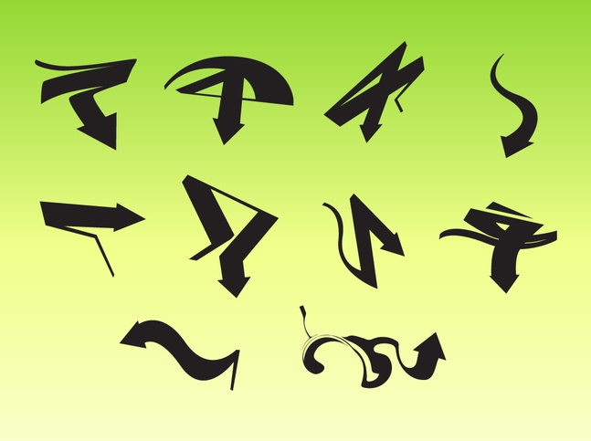 Creative Arrow Vectors free