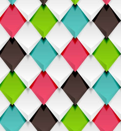 Creative pattern rhomb elements vector graphic 03 free