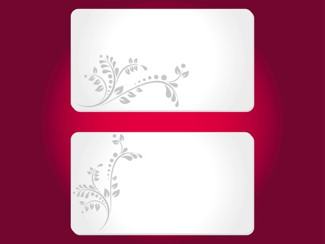 Floral Cards Templates vector free