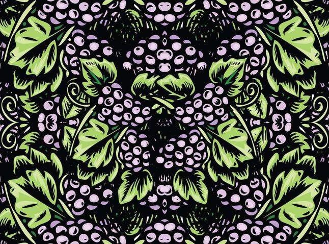 Grapes Vector Art free