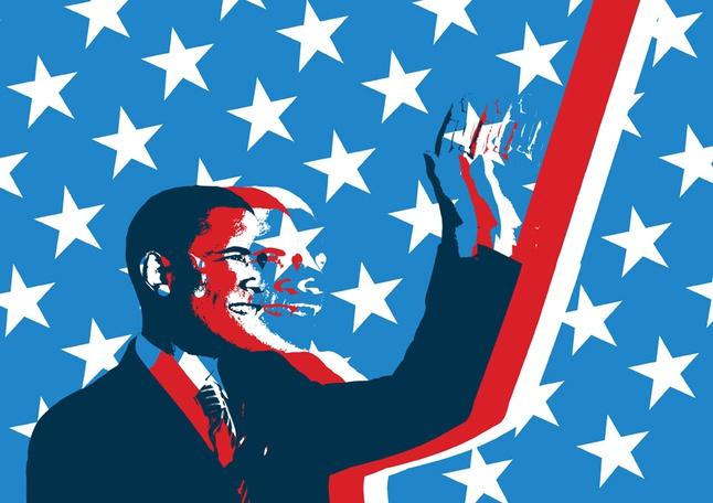 Obama Grunge Vector free
