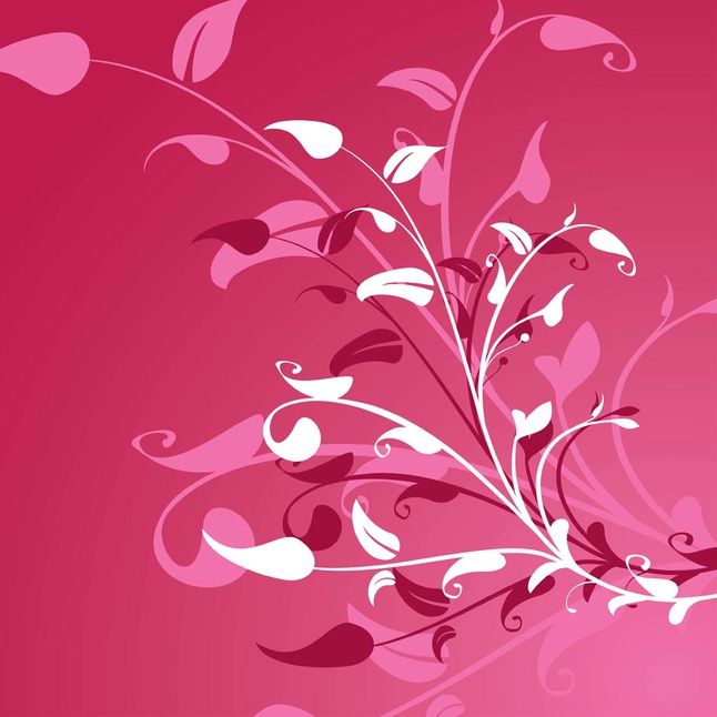 Pink Plants vector free