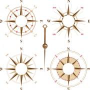Creative compass design elements vector free