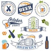 Retro beer labels vectors set 01 free