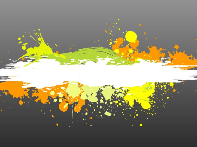 Colorful Paint Splatter vector free