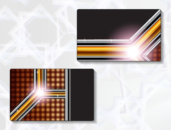Delicate modern business cards vector graphics 05 free