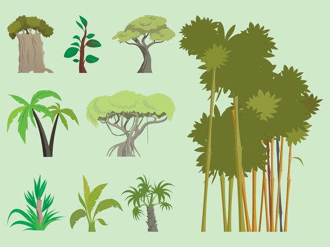 Exotic Trees Vector free