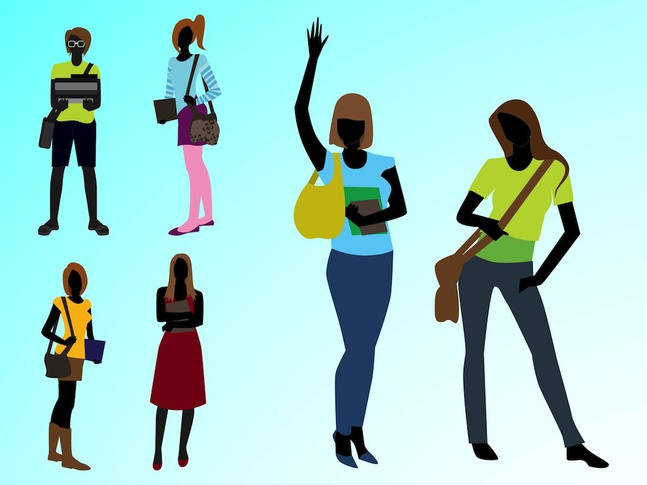 Fashionable Girls vector free