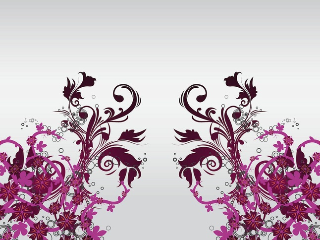 Floral Decoration Vector Art free