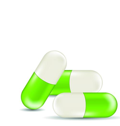 Green medical capsule design vector 04 free