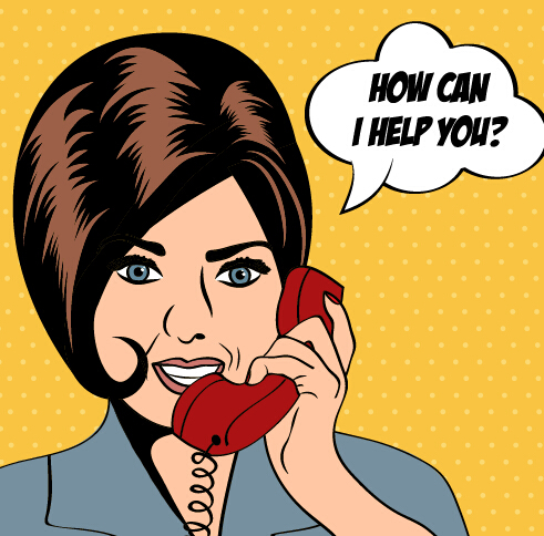 Phone call woman vector  01 free