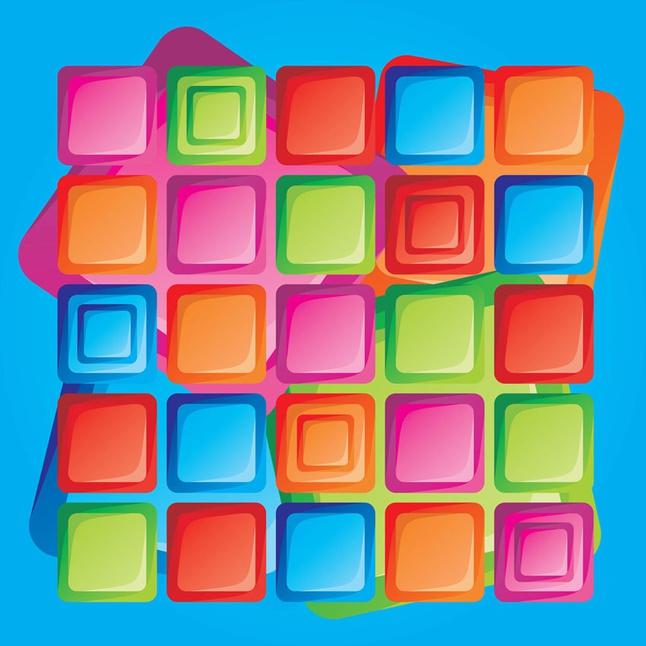 Retro Design Squares vector free