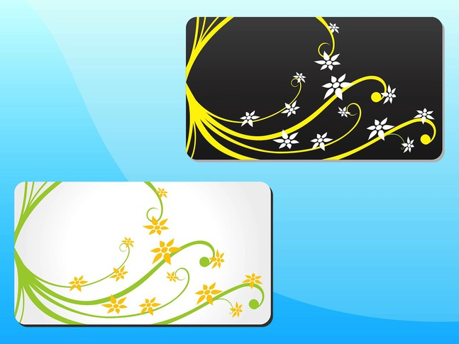 Spring Floral Cards vector free