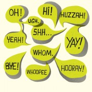 Text short words and speech bubbles design vector 02 free