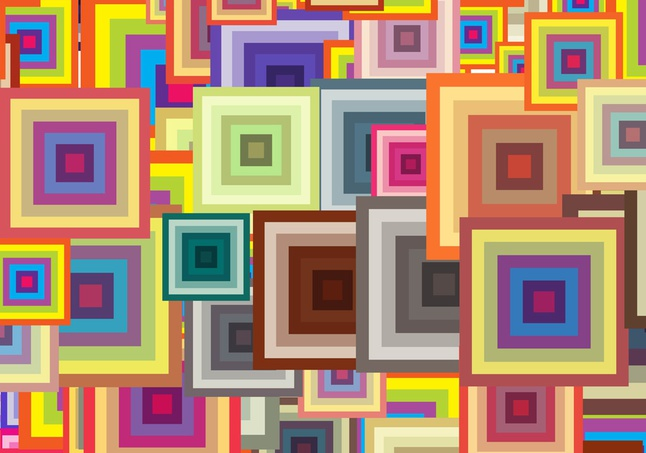 Colorful Squares Pattern vector free