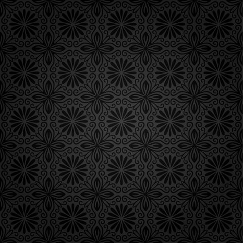 Dark ornate floral seamless pattern vector 03 free