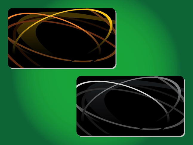 Generic Business Cards vector free