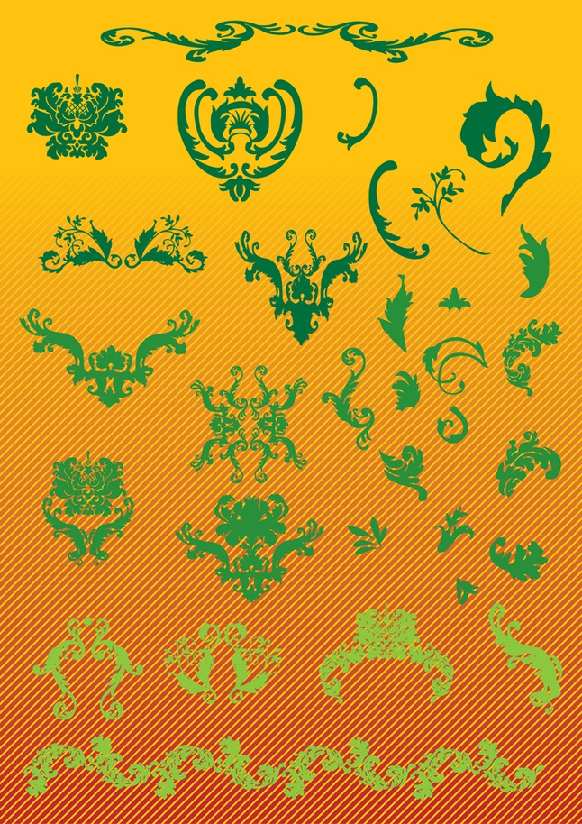 Nature Scroll Graphics vector free