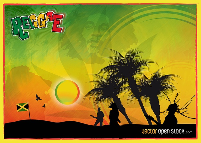 Reggae Vector Graphics free