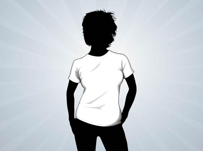 T-Shirt Girl Vector free