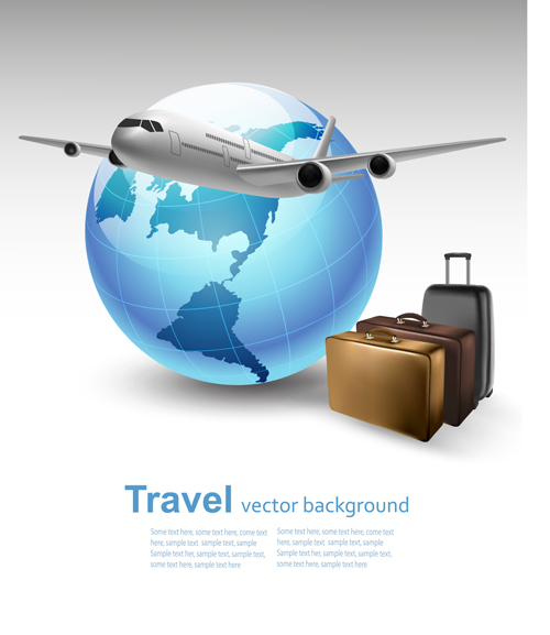 Vector set of world travel design graphics 06 free