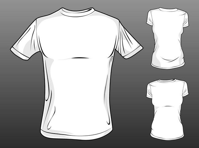 Vector T-Shirt Templates free