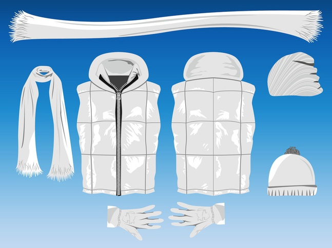 Winter Clothing vector free