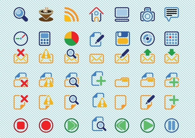 Basic Icons Vectors free
