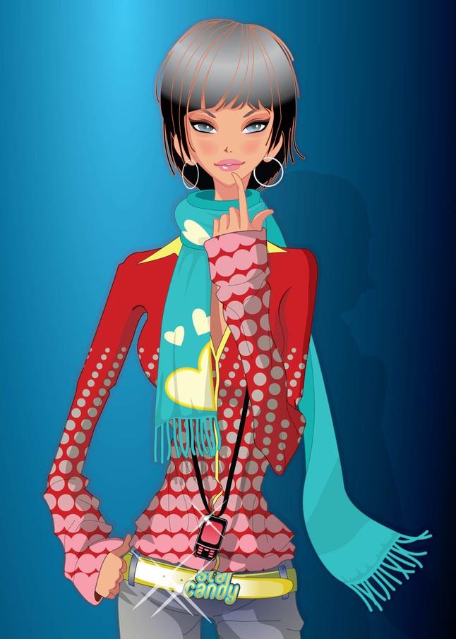 Beautiful Girl Vector Illustration free