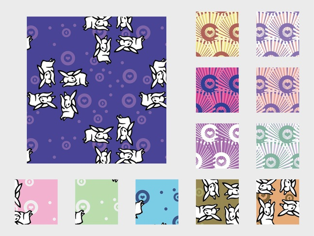 Bunny Patterns vector free