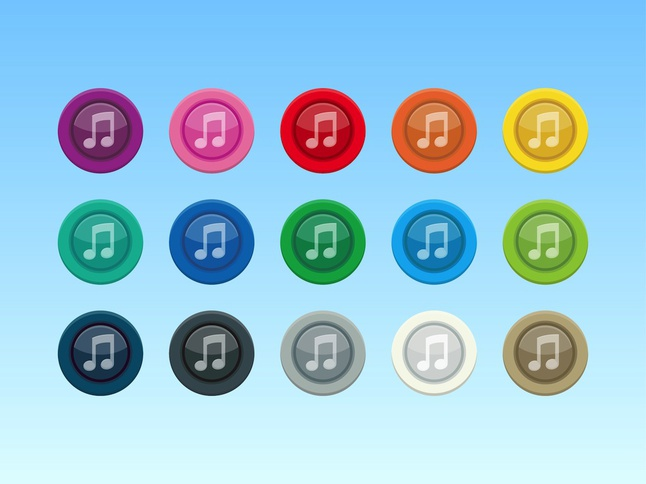 Colorful Music Icons vector free