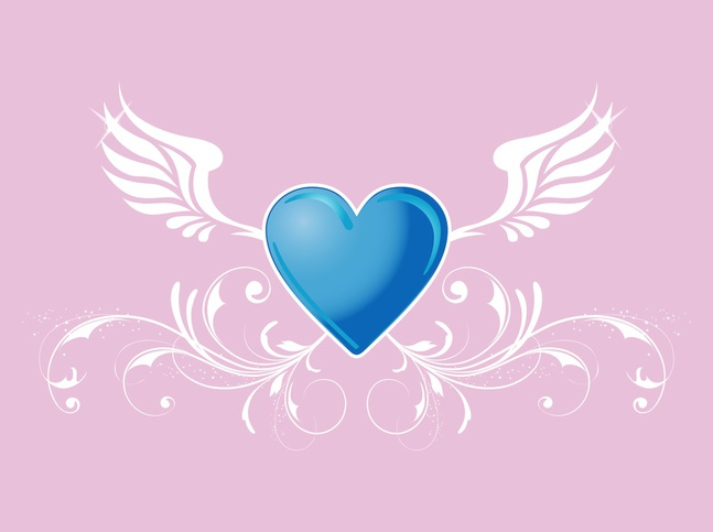Heart With Wings vector free