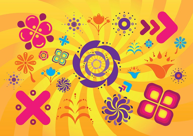 Summer Design Elements vector free