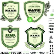 Classic financial labels vector graphics 02 free