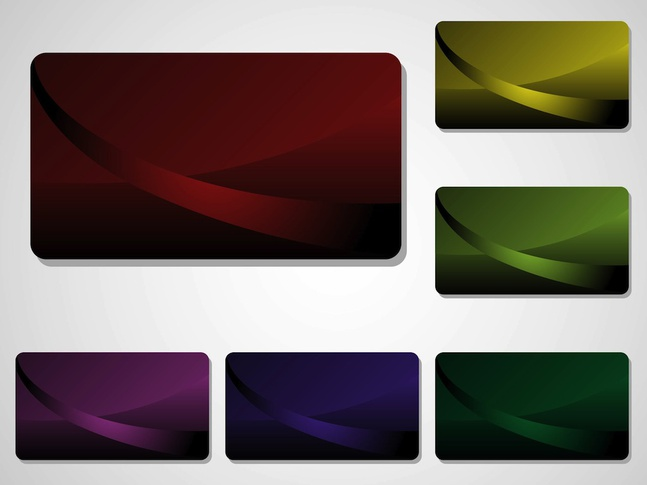 Business Cards Graphics vector free
