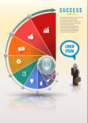 Business Infographic creative design 1358 free