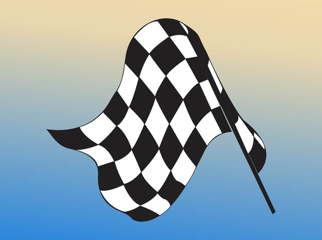 Checkered Flag vector free